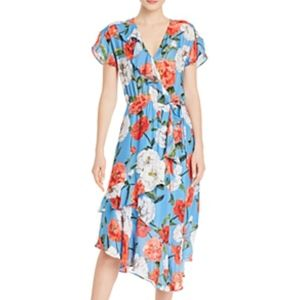 Parker Blue Reina Floral Dress Size Small